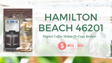 Photo of Hamilton Beach 46201 Digital Coffee Maker 12-Cups.